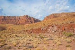 AZ-UT-Paria Canyon-Vermillion Cliffs Wilderness-Paria River Canyon Royalty Free Stock Photos