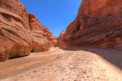 AZ-UT-Paria Canyon-Vermillion Cliffs Wilderness-Paria River Canyon Stock Photo