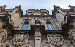 Azabacheria Facade Low Angle Royalty Free Stock Image
