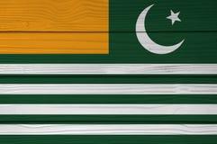 Azad Kashmir-vlagkleur op de achtergrond die van de het bladmuur van het Vezelcement wordt geschilderd vector illustratie