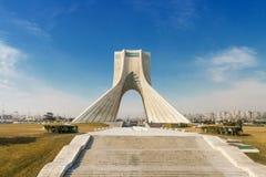 Azadi fyrkant med det Azadi tornet Royaltyfri Foto