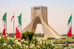 Azadi monument - Teheran Arkivfoto