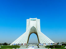 Azadi torn i Teheran Iran Arkivfoton