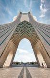 Azadi torn i Teheran, Iran som tas i Januari 2019 som tas i hdr royaltyfri bild