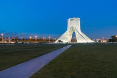 Azadi Tower in Tehran, Iran. The Azadi Tower, formerly known as the Shahyad Tower is a monument located at Azadi Square, in Tehran, Iran. It is one of the stock photos
