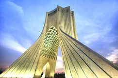 Azadi Tower located at Azadi Square, in Tehran, Iran. The Azadi Tower located at Azadi Square, in Tehran, Iran stock photo