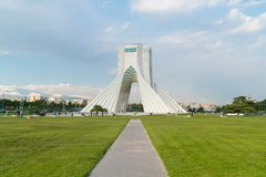 Azadi Tower in Tehran, Iran. The Azadi Tower, formerly known as the Shahyad Tower is a monument located at Azadi Square, in Tehran, Iran. It is one of the royalty free stock images