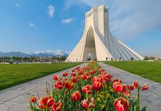 Azadi Tower in Tehran, Iran. The Azadi Tower, formerly known as the Shahyad Tower is a monument located at Azadi Square, in Tehran, Iran. It is one of the royalty free stock photo