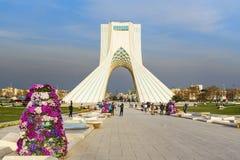 Azadi Tower in Tehran. Iran. Tehran, Iran - March 19, 2018: Azadi Tower is monument at Azadi Square stock images