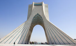 Azadi Tower. Tehran, Iran - October 1 2013 : Azadi Tower, one of the important sights to Iran Which is located in the Iranian capital Tehran And who was a Royalty Free Stock Image