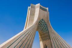 Azadi Tower in Tehran. Tehran, Iran - October 15, 2016: One of the most famous Tehran landmarks - Azadi Tower located at Azadi Square stock image