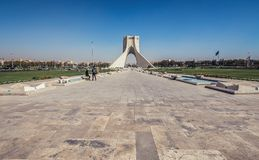 Azadi Tower in Tehran. Tehran, Iran - October 15, 2016: View on Azadi Square with one of the most famous Tehran landmarks - Azadi Tower stock photo