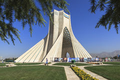 Azadi Tower in Tehran, Iran. This picture is taken at Tehran Capital, Iran. The Azadi Tower Persian: برج آزادی‎‎ — royalty free stock photo