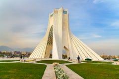 Azadi Tower in Tehran. Iran. Tehran, Iran - March 19, 2018: Azadi Tower is monument at Azadi Square royalty free stock image