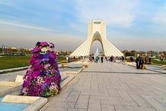 Azadi Tower in Tehran. Iran. Tehran, Iran - March 19, 2018: Azadi Tower is monument at Azadi Square royalty free stock photography