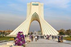 Azadi Tower in Tehran. Iran. Tehran, Iran - March 19, 2018: Azadi Tower is monument at Azadi Square stock photography