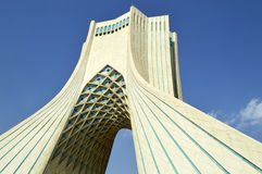 Azadi Tower in Tehran. Azadi tower symbols of Tehran City, Iran stock photo