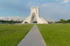 Azadi wierza w Teheran, Iran obrazy royalty free