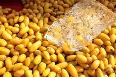 Azadirachta印度种子 库存图片