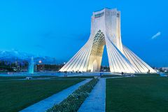 Azaditoren in Teheran, Iran royalty-vrije stock foto
