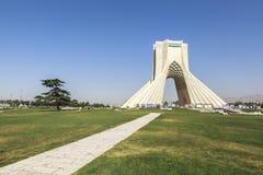 Azaditoren in Teheran, Iran stock foto