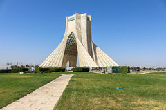 Azaditoren in Teheran, Iran stock afbeelding