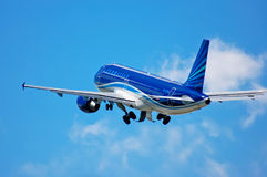 AZAL Azerbaijan Airlines Aerobus A320 Obrazy Stock