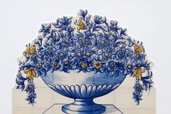 Azalejos portoghesi del mosaico Immagine Stock