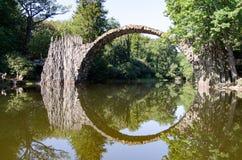 Azalia Parkowy Kromlau i różanecznik Rakotzbrà ¼ cke Obraz Stock