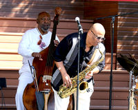 Azar Lawrence et Henry Franklin Play Jazz Photo libre de droits