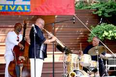 Azar Lawrence Henry Franklin, Billy Hart Play Ja Arkivbild