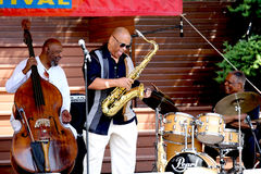 Azar Lawrence Henry Franklin, Billy Hart Play Ja Arkivfoto
