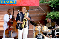 Azar Lawrence, Henry Franklin , Billy Hart Play Ja Royalty Free Stock Images