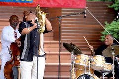 Azar Lawrence, Henry Franklin , Billy Hart Play Ja Stock Photography