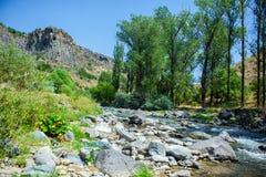 Azat River Canyon i Armenien Fotografering för Bildbyråer