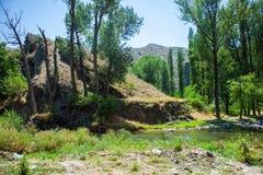 Azat River Canyon i Armenien Arkivfoton