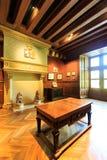 Azay le Rideau城堡内部  库存照片