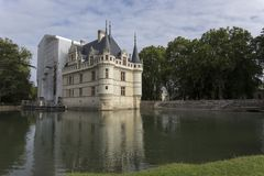 Azay LE Rideau κάστρο στην κοιλάδα της Loire Στοκ Φωτογραφίες