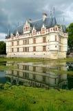 Azay Le Rideau Castelo Fotografia de Stock