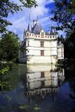Azay le Rideau Castelo, France foto de stock