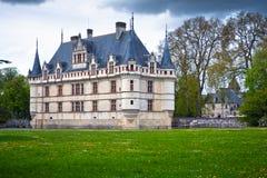Azay-le-Rideau castelo, Loire Valley, France. Fotografia de Stock Royalty Free