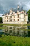Azay Le Rideau Castle. The chateau of Azay-le-Rideau, one of the earliest French Renaissance ch�teaux Stock Photography