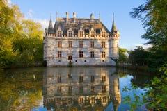 Azay-le-Rideau castle, France Royalty Free Stock Photography