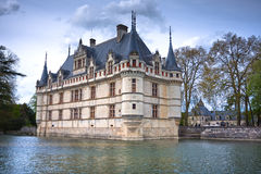 Azay-le-Rideau castle, Loire Valley, France. This castle was built in the XVIth century on an island among the Indre river Stock Photography