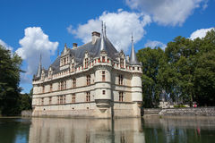 Azay-le-Rideau castle in Loire Valley Stock Photos