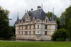Azay-le-Rideau castle in the Loire Valley Stock Image