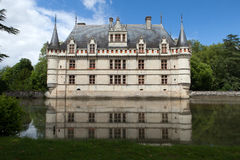 Azay-le-Rideau castle in the Loire Valley Royalty Free Stock Photo