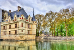 Azay-le-Rideau castle in Loire Valley, France. Royalty Free Stock Image