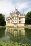 Azay-Le-Rideau Chateau. Loire Valley, France stock photos
