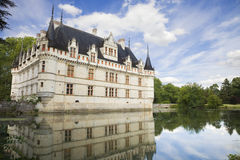 Azay-le-Rideau Chateau, France. Nice French chateau from Loire Valley stock photography